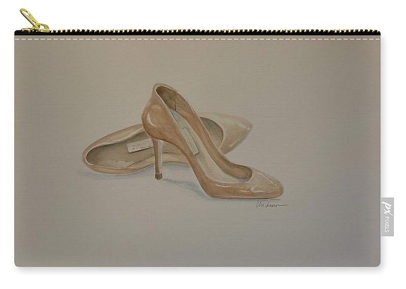 Shoes Carry-all Pouch featuring the painting Favorites by Karen Lindeman