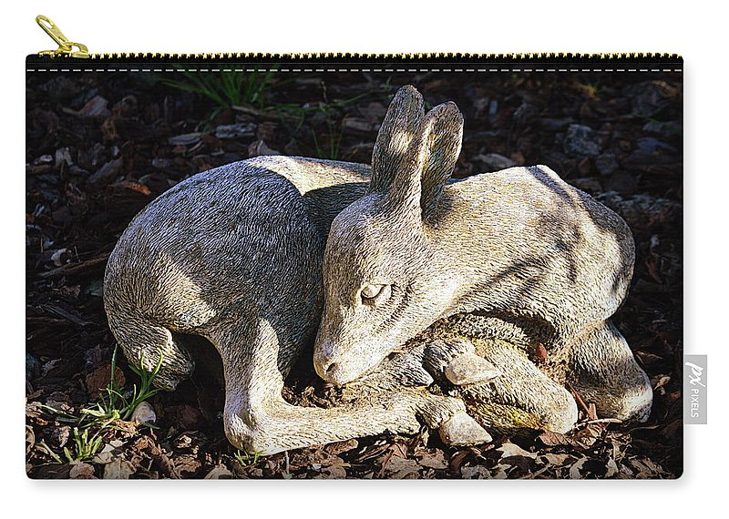 Statue Carry-all Pouch featuring the photograph Fawn by AJ Schibig