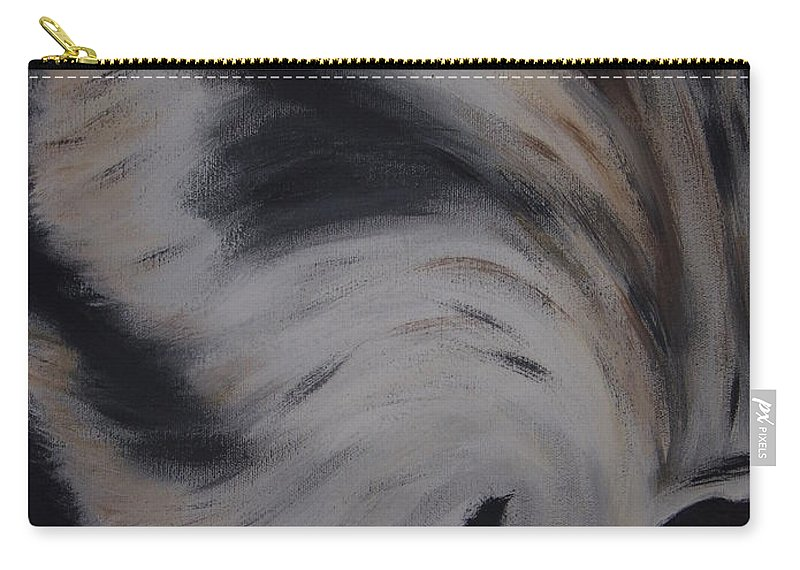 Red Wolf Carry-all Pouch featuring the painting Fawn In A Red Wolf's Eye by Dean Stephens