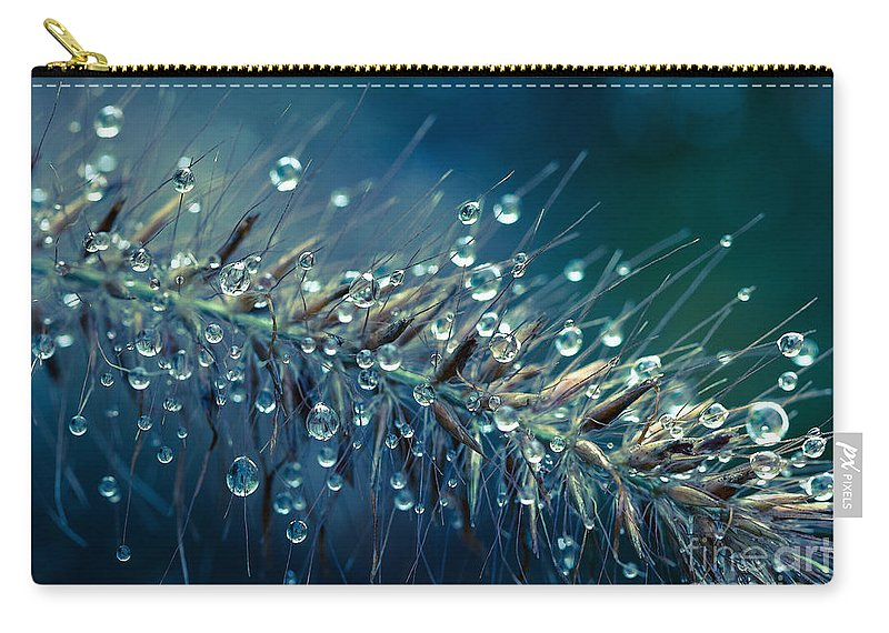 Water Carry-all Pouch featuring the photograph Feather Grass Dance by Jean OKeeffe Macro Abundance Art