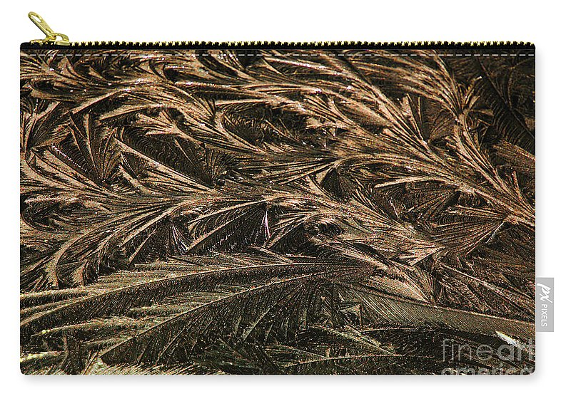 Ice Carry-all Pouch featuring the photograph Feather Ice 2 by Judy Wolinsky