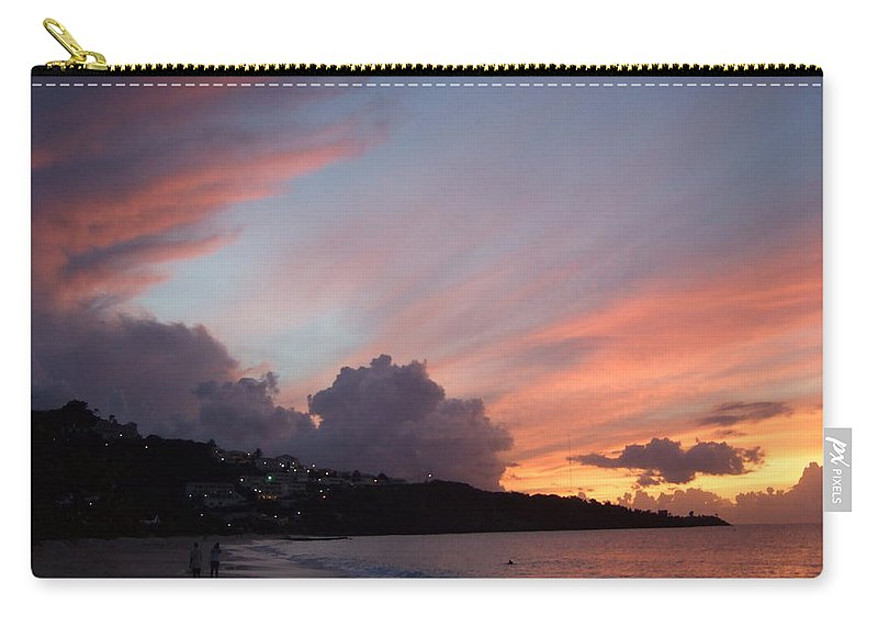 Carry-all Pouch featuring the photograph Feathers In The Sky by Katerina Naumenko