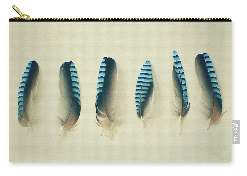 Feathers Carry-all Pouch featuring the photograph Feathers No1 by Cassia Beck