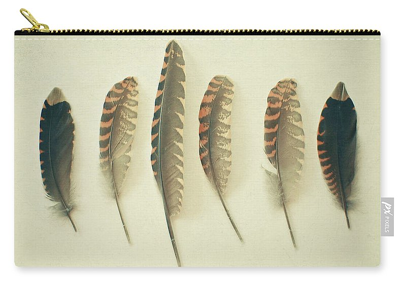 Feathers Carry-all Pouch featuring the photograph Feathers No2 by Cassia Beck