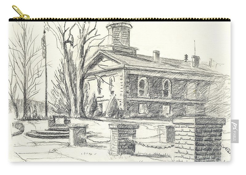 February Morning No Ctc102 Carry-all Pouch featuring the drawing February Morning No CtC102 by Kip DeVore