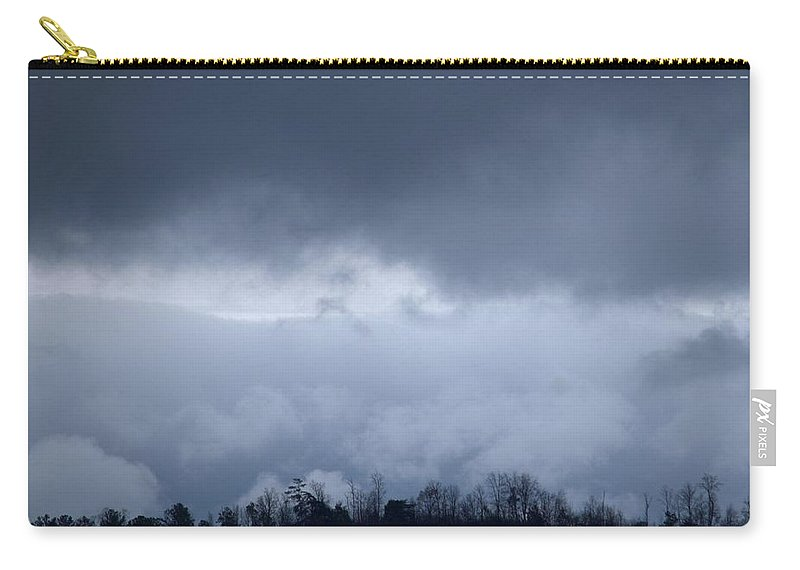 February Storm Clouds 2013 Carry-all Pouch featuring the photograph February Storm Clouds 2013 by Maria Urso