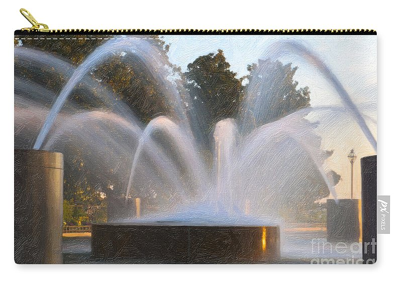 Charleston Carry-all Pouch featuring the photograph Feel The Mist by Dale Powell