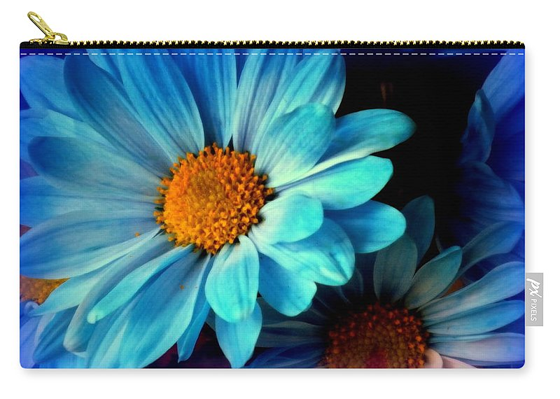 Blue Carry-all Pouch featuring the photograph Feeling Blue by Karen Wiles