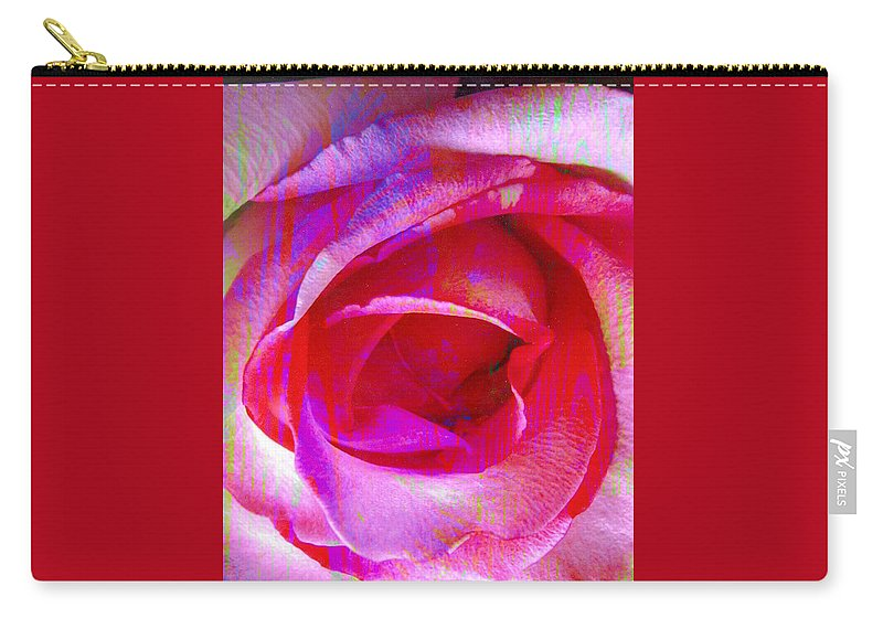 Rose Flower Carry-all Pouch featuring the digital art Feelings by Yael VanGruber
