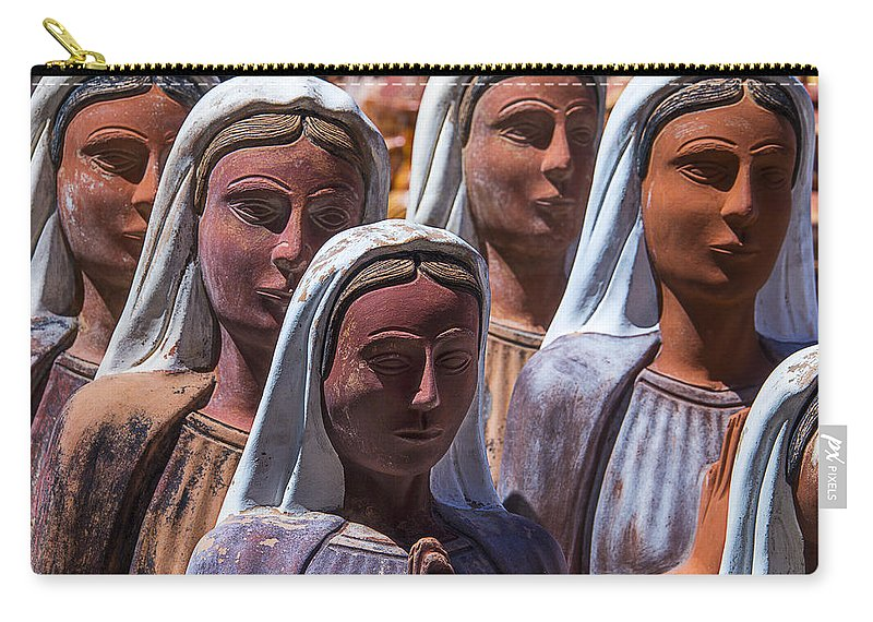 Female Carry-all Pouch featuring the photograph Female Statues by Garry Gay