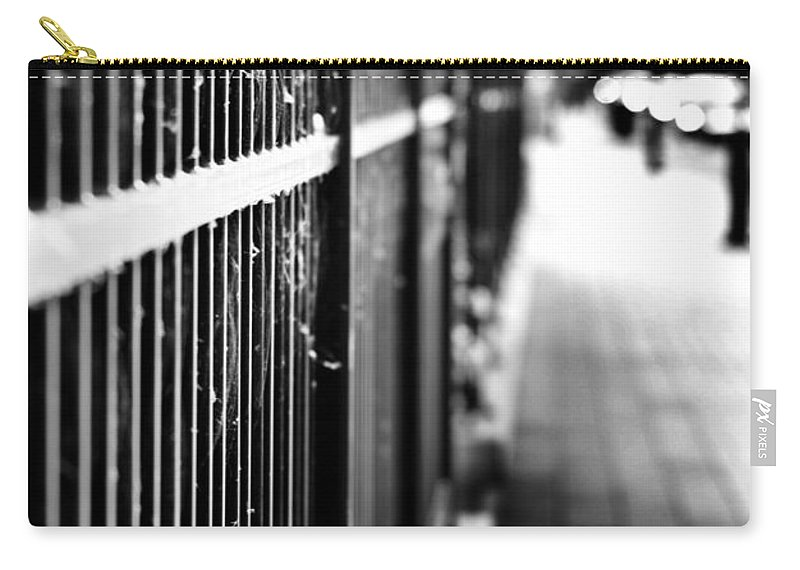 Fence Carry-all Pouch featuring the photograph Fence At Eight by The Artist Project