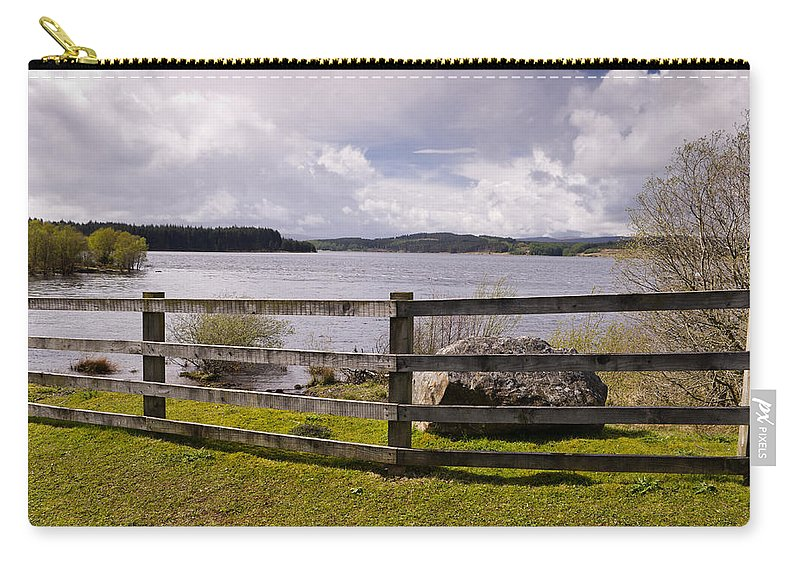 Northumberland Carry-all Pouch featuring the photograph Fence At Kielder Water by David Head