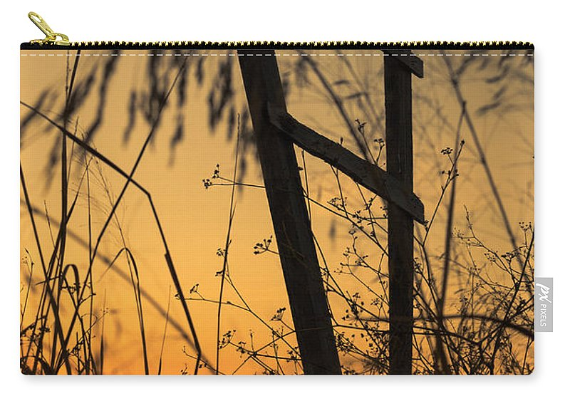 Marco Oliveira Photography Carry-all Pouch featuring the photograph Fence At Sunset I by Marco Oliveira