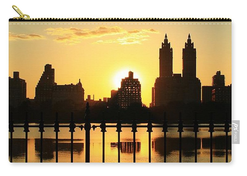 Central Park Carry-all Pouch featuring the photograph Fenced In by Catie Canetti