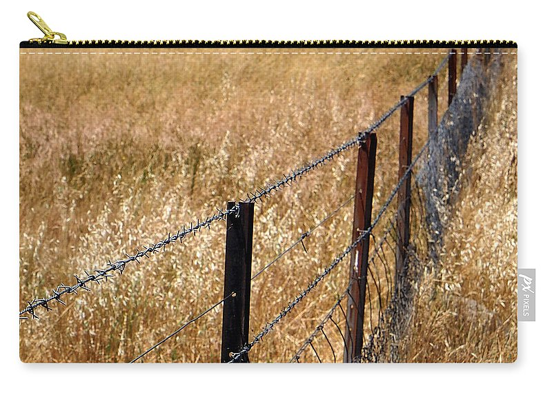 Fence Carry-all Pouch featuring the photograph Fenced Off by Kaleidoscopik Photography