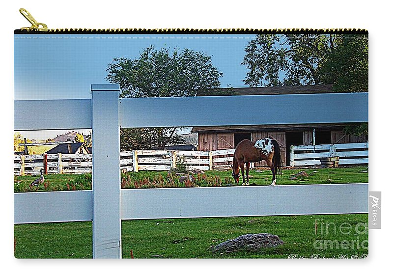 Barn Carry-all Pouch featuring the photograph Fences by Bobbee Rickard