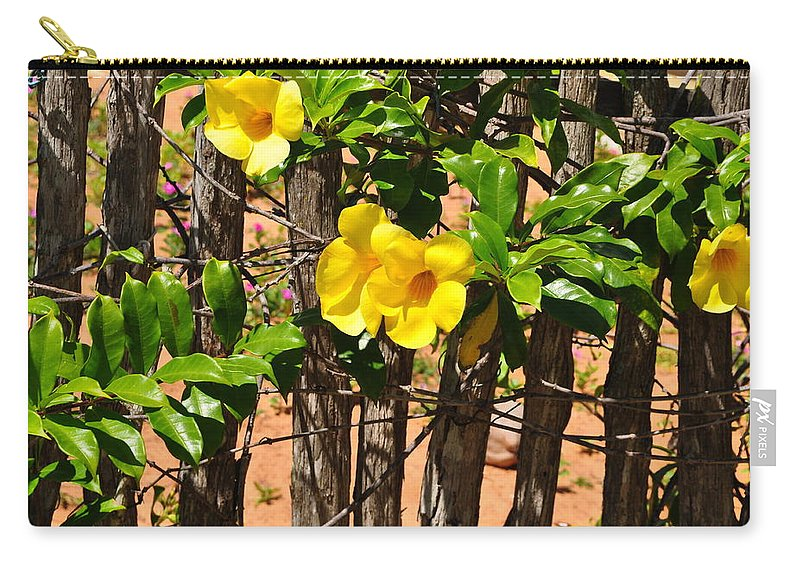 Beach Carry-all Pouch featuring the photograph Fency Free Brazlian Flowers by Karen Maxwell