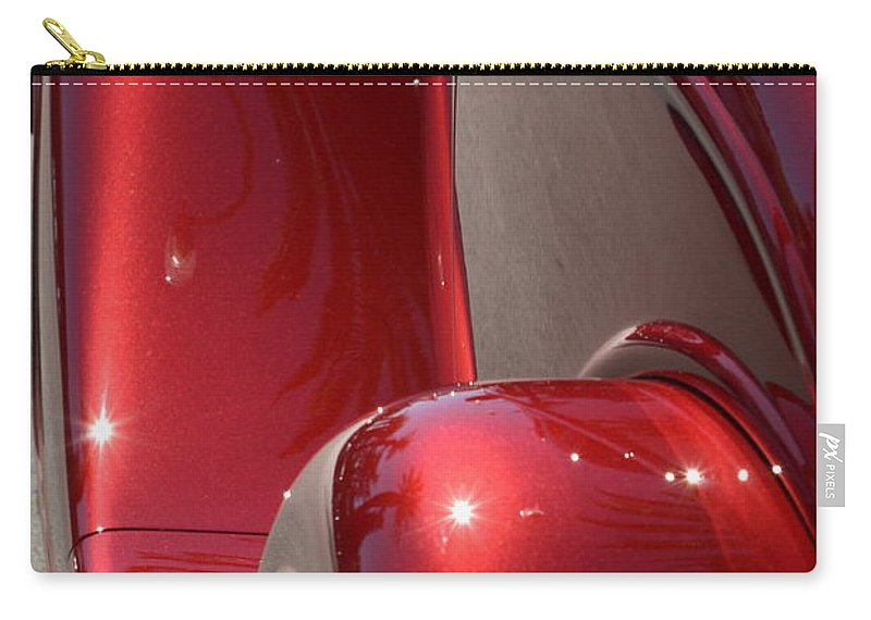 Red Carry-all Pouch featuring the photograph Fenders With Flare by Dean Ferreira