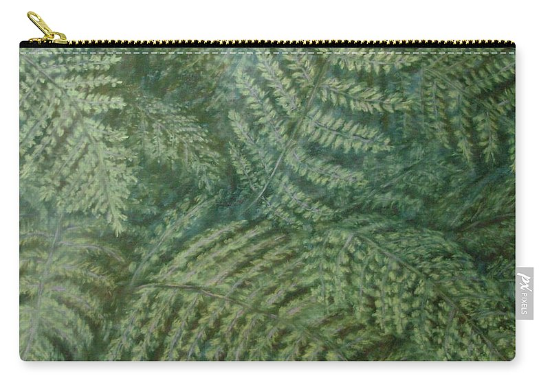 Pastel Carry-all Pouch featuring the pastel Fern Frenzy by Joann Renner