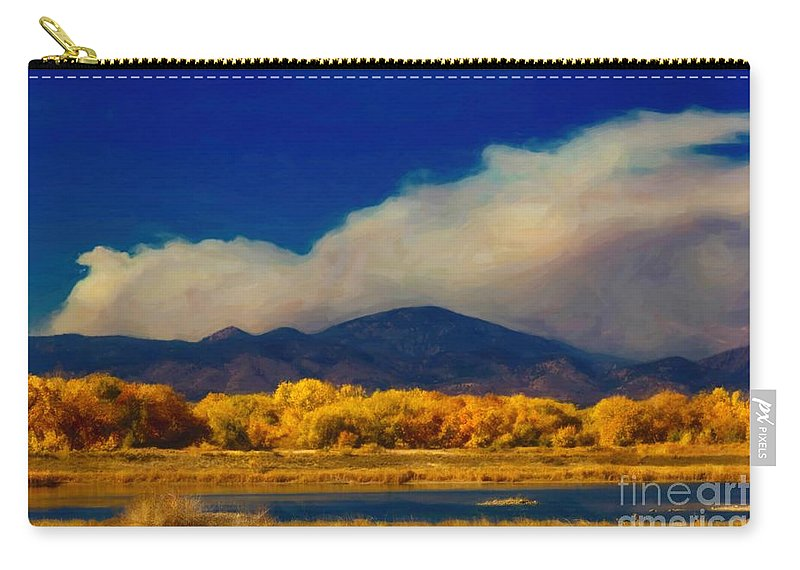 Fern Lake Carry-all Pouch featuring the photograph Fern Lake Fire by Jon Burch Photography