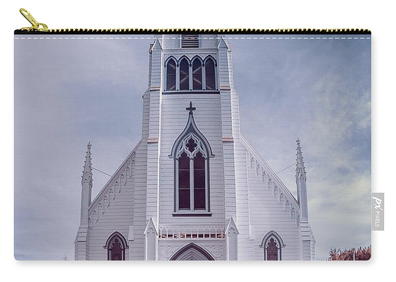 Infrared Carry-all Pouch featuring the photograph Ferndale Church by Greg Nyquist