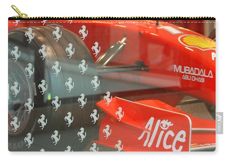 Stallions Carry-all Pouch featuring the photograph Ferrari Formula One by Rob Hans
