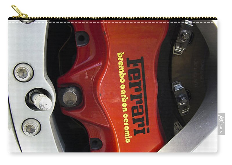 Ferrari Carry-all Pouch featuring the photograph Ferrari by Jose Bispo