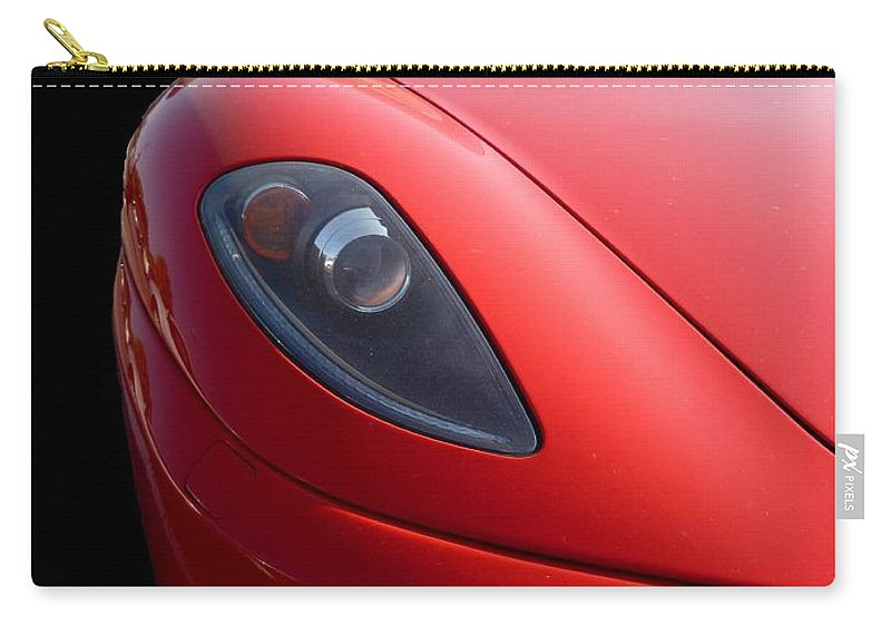 Ferrari Carry-all Pouch featuring the photograph Ferrari by Vicki Spindler