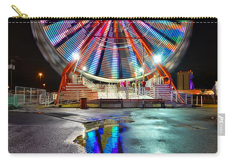 Ferris Wheel Carry-all Pouch featuring the photograph Ferris Reflection by David Lee Thompson