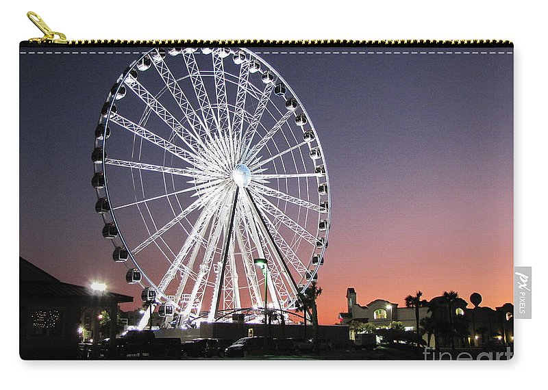 Ferris Wheel Carry-all Pouch featuring the photograph Ferris Wheel 22 by Michelle Powell