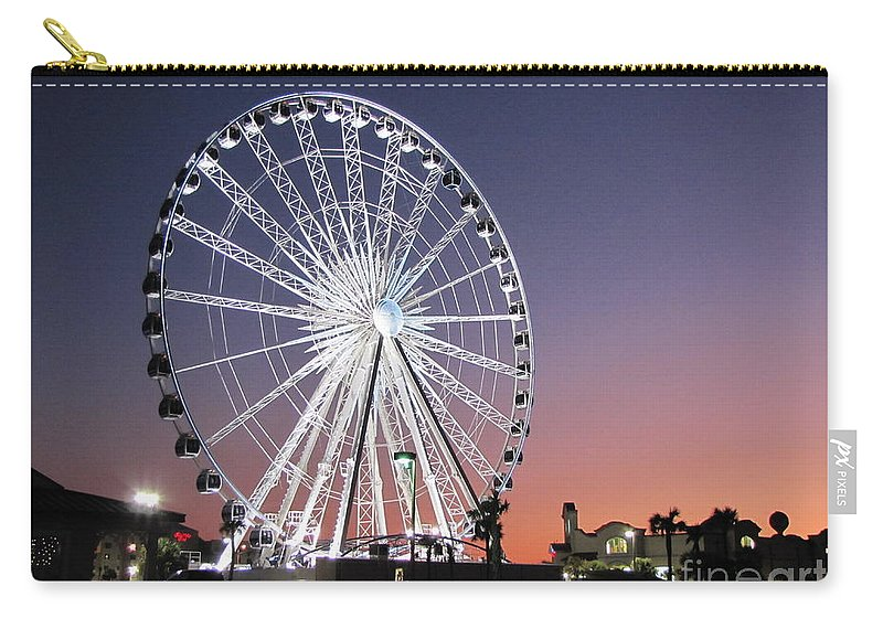 Ferris Wheel Carry-all Pouch featuring the photograph Ferris Wheel 23 by Michelle Powell