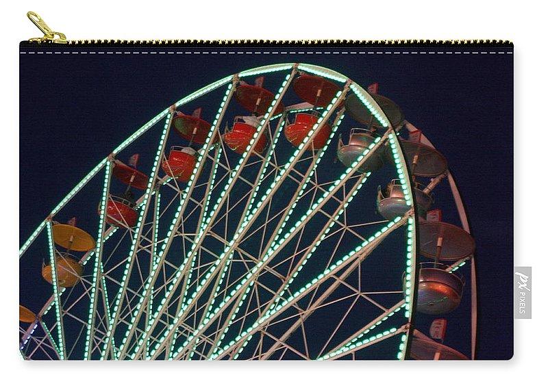 Ferris Wheel Carry-all Pouch featuring the photograph Ferris Wheel After Dark by Joe Kozlowski