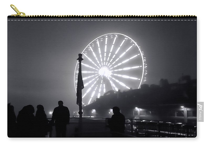 Carry-all Pouch featuring the photograph Ferris Wheel by Cathy Anderson