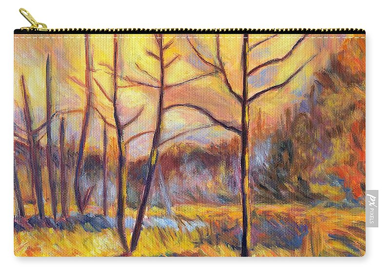 Landscape Carry-all Pouch featuring the painting Ferrum Sketch by Kendall Kessler