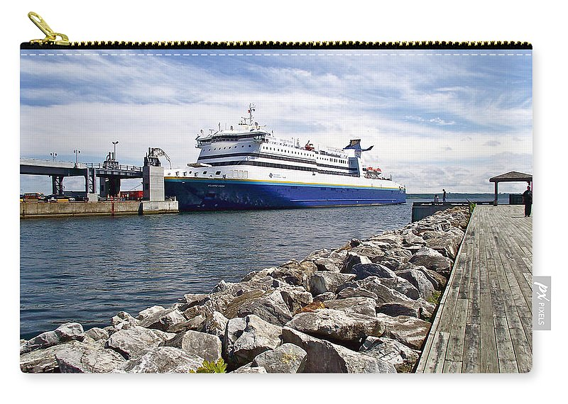 Ferry From North Sydney-ns To Argentia Carry-all Pouch featuring the photograph Ferry From North Sydney-ns To Argentia-nl by Ruth Hager