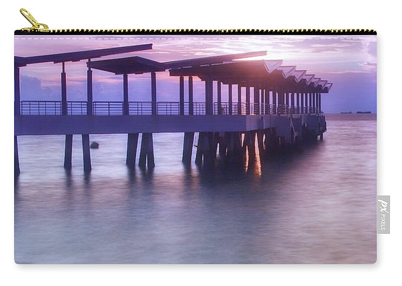 Scenics Carry-all Pouch featuring the photograph Ferry Station by Melv Pulayan