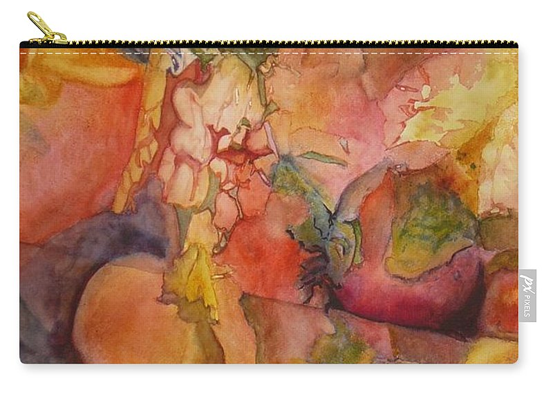 Vegetables Carry-all Pouch featuring the painting Fertility by Eldora Schober Larson