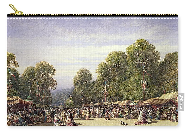 Fair Carry-all Pouch featuring the drawing Festival At St. Cloud, C.1860 by William Wyld