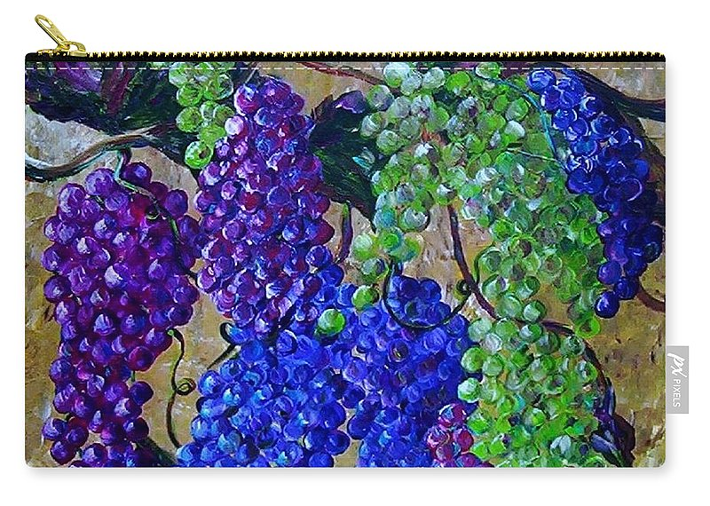 Grapes Carry-all Pouch featuring the painting Festival Of Grapes by Eloise Schneider