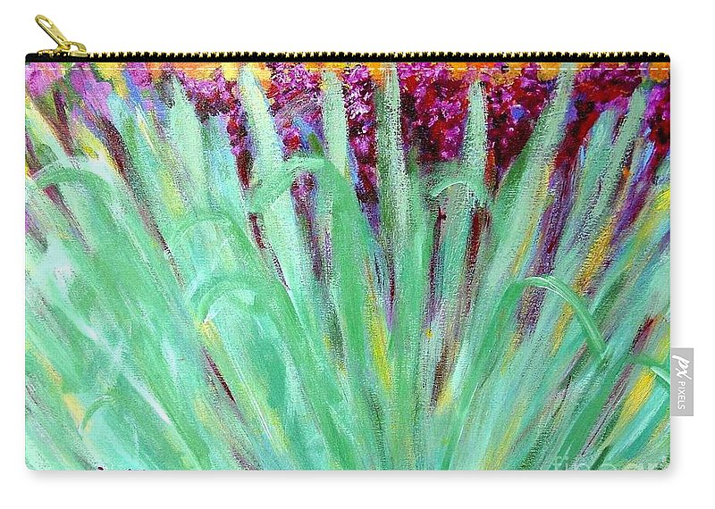 Abstract Carry-all Pouch featuring the painting Festoon by Laurie Morgan