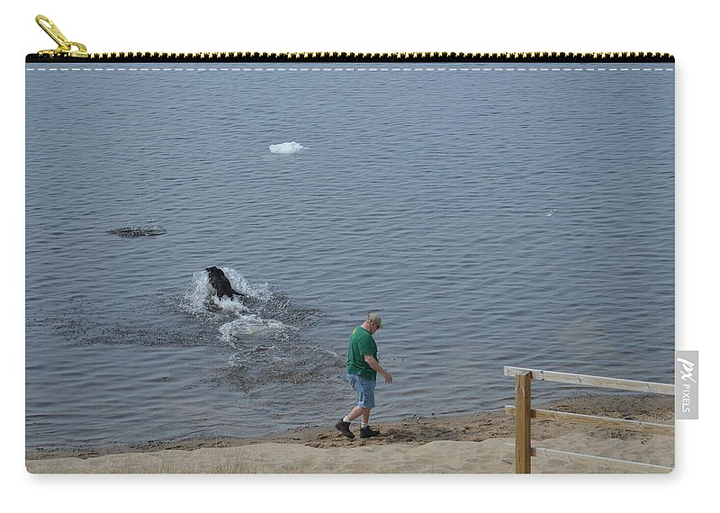 Great Lakes Carry-all Pouch featuring the photograph Fetch by Linda Kerkau