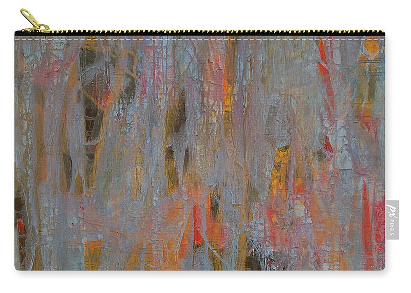 Abstract Carry-all Pouch featuring the painting Fibres Of My Being by Mini Arora