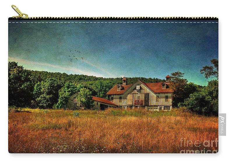Barn Carry-all Pouch featuring the photograph Field Of Broken Dreams by Lois Bryan
