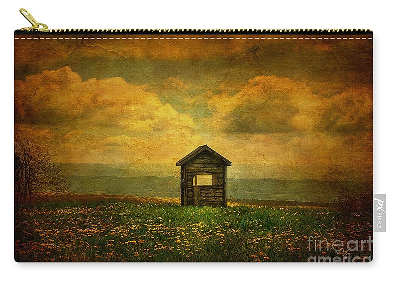 Shed Carry-all Pouch featuring the photograph Field Of Dandelions by Lois Bryan