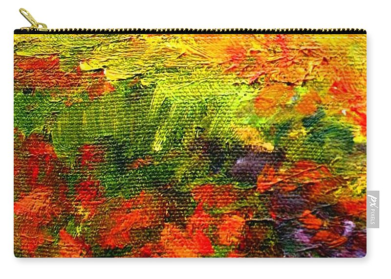 Field Carry-all Pouch featuring the painting Field Of Flowers by Hazel Holland