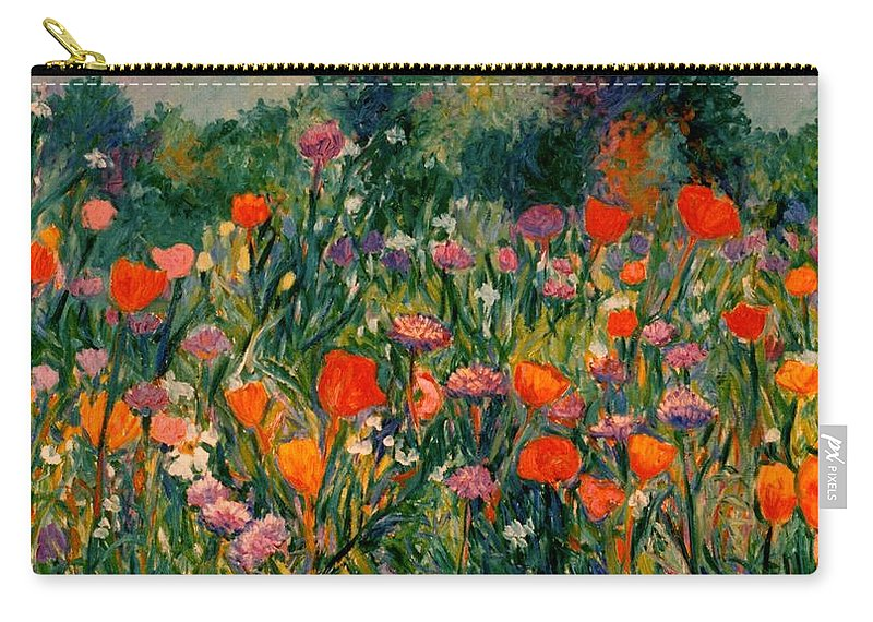 Flowers Carry-all Pouch featuring the painting Field Of Flowers by Kendall Kessler
