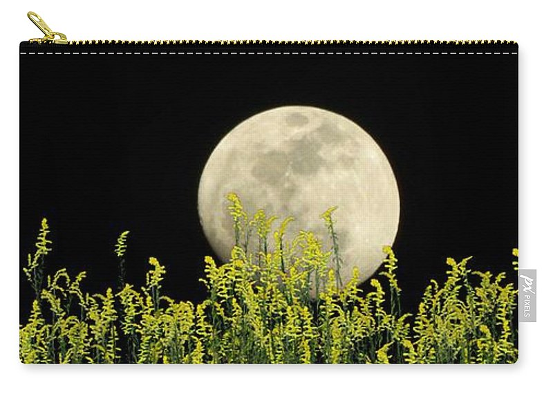 Weeds Carry-all Pouch featuring the photograph Field Of Gold By Moonlight by George Pedro