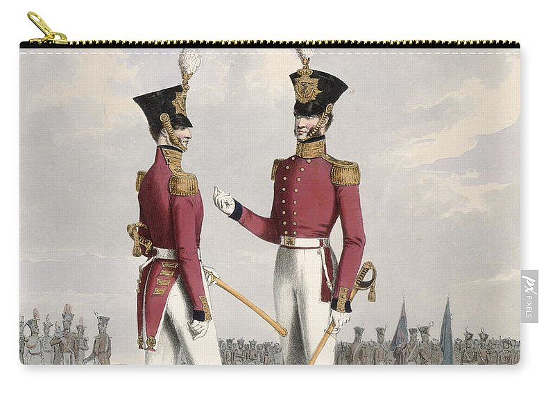 Soldiers Carry-all Pouch featuring the drawing Field Officers Of The Royal Marines by L. and Eschauzier, St. Mansion
