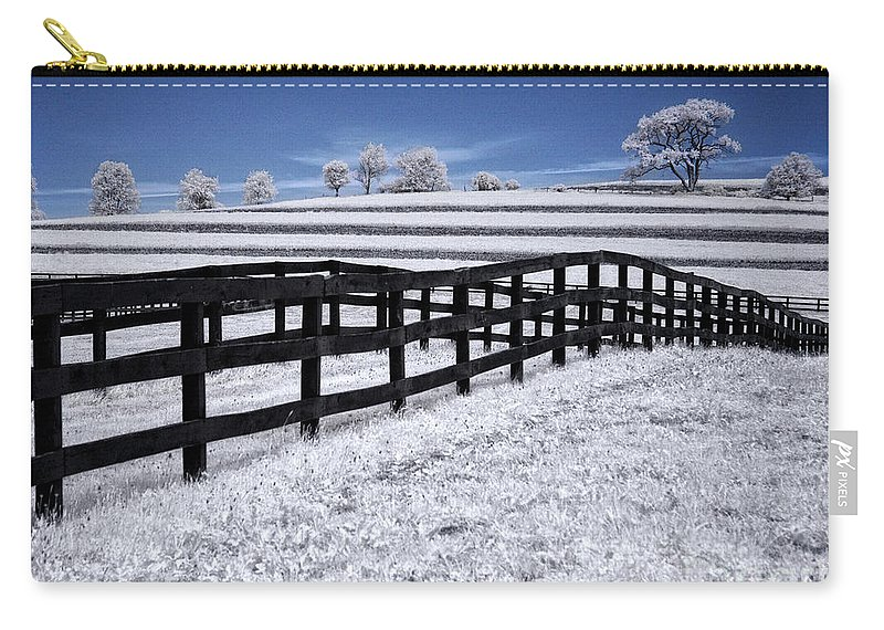 Ir Carry-all Pouch featuring the photograph Fields And Fences by Claudia Kuhn