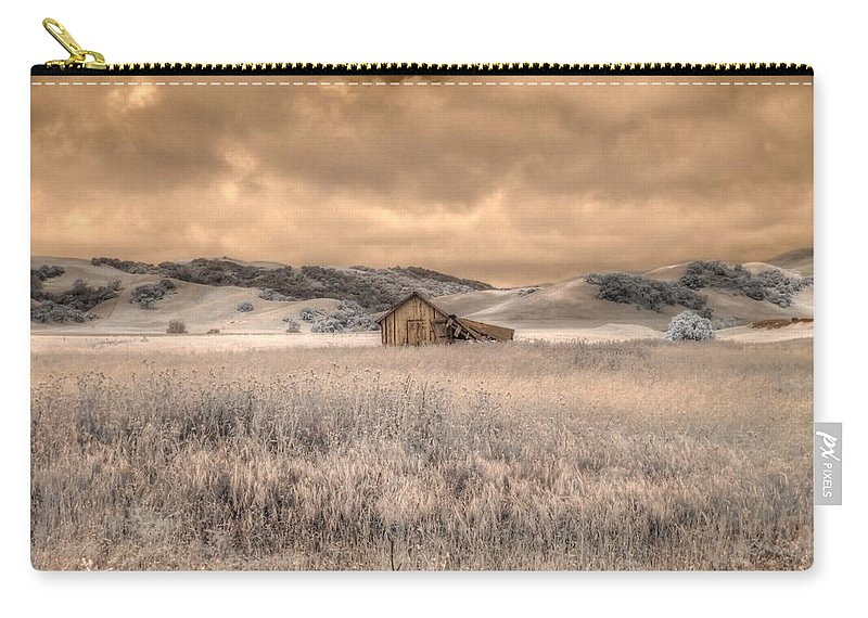 Barn Carry-all Pouch featuring the photograph Fields Of Gold by Jane Linders